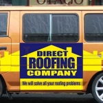 Direct Roofing Company Vehicle
